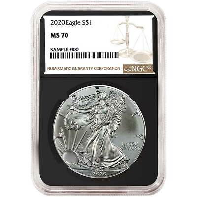 2020 $1 American Silver Eagle NGC MS70 Brown Label Retro Core