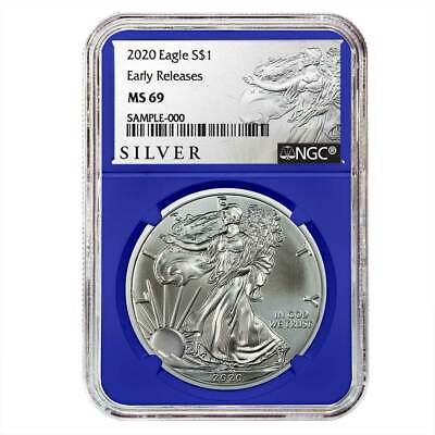 2020 $1 American Silver Eagle NGC MS69 ALS ER Label Blue Core