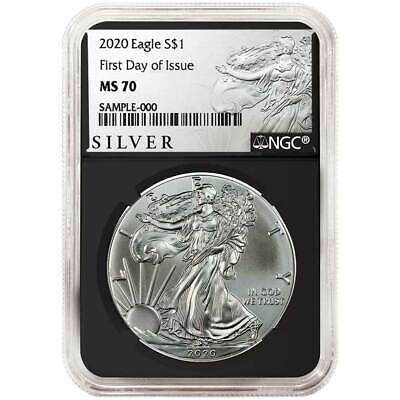 2020 $1 American Silver Eagle NGC MS70 FDI ALS Label Retro Core