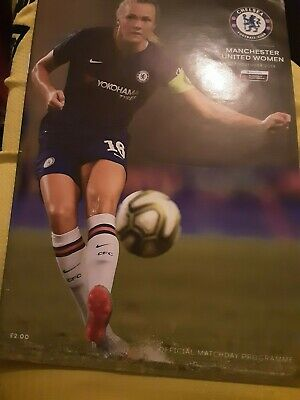 Chelsea Women vMan United Women  2019-2020 WSL Programme And 8 page paper
