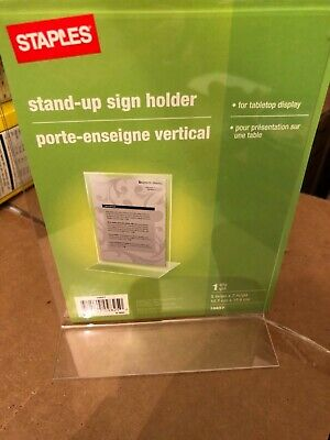 """Vertical sign Holder Ad Frame 5""""W x 7""""H from staples"""