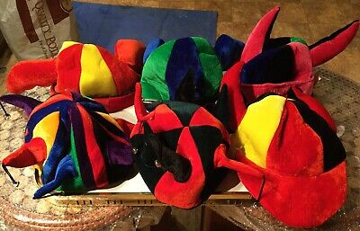 6 X Hats Jester,  Fancy Dress, Party, Stag night, Carnival, Festival