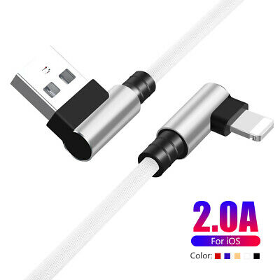90 degree elbow lightning usb charger cable for iphone 8 7 plus 1m 1.5m 2m 3m 0