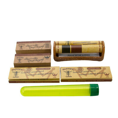 HORNET Kit -6 X Classic Rolling Papers Roll Paper Tips Stash Jar Rolling Machine