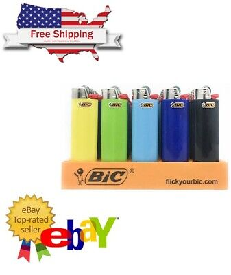 Bic Lighter Maxi Classic Assorted Colors (50 Count)- Ships free USA