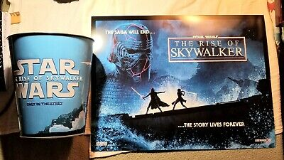 Star Wars The Rise Of Skywalker Amc Exclusive Embossed Popcorn Tin +3Art Posters