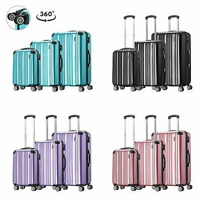 Extra Light Trolley Hand Luggage Suitcase Shell Cabin Bag Value Case Carry on UK
