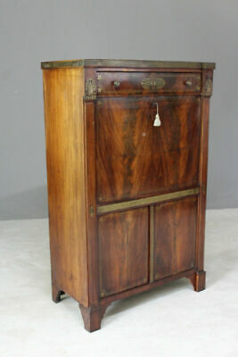 Antique Empire Style Inlaid Mahogany Secretaire Abbatant