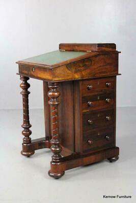 Antique Rosewood Davenport Ladies Writing Desk Small