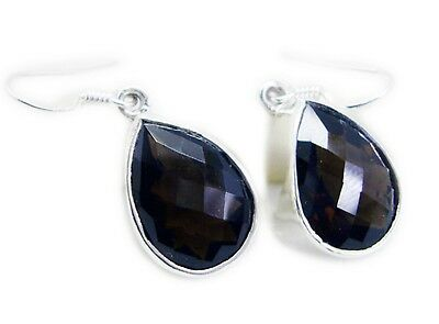 Brown 925 Sterling Silver Natural enticing Smoky Quartz jewellery Earring AU