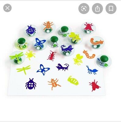 Coloration Easy Grip Bug Story Stampers Set Of 12 EUC