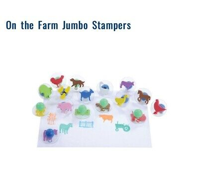 Coloration Easy Grip On The Farm Stampers Set Of 14 EUC