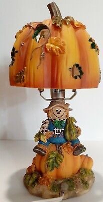 Scarecrow Fall Harvest Lamp