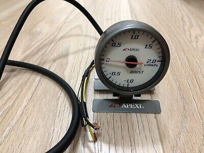 A'pexi Apexi 2 Bar 60mm Boost Gauge with wiring and mount