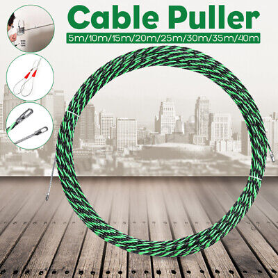 5mm Flexible 5-40m Cable Puller Handy Fiberglass Wire Electrical Tool Fish Tape