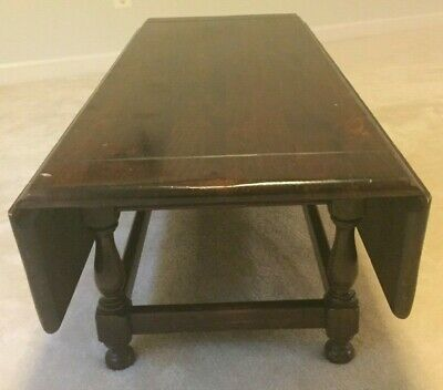 Ethan Allen Old Tavern, Solid Pine Drop Leaf Coffee Table