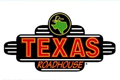 $50 Texas Roadhouse Gift Certificate (Instant Email or Mail Delivery)