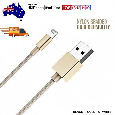 Fast Charging Lightning 8 Pin Data Charger Nylon Cable For iphone iPad iPod 1M