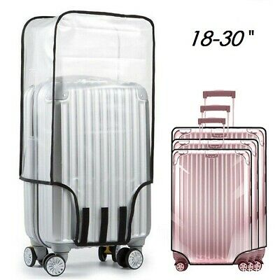 Clear PVC Suitcase Cover Transparent Travel Luggage Rain/Dust Proof Protector AU