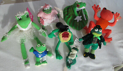 Frogs * Plush And Stuffed * 8 Items * Unusual