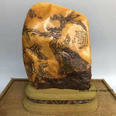 Natural Tianhuang Shoushan Stone Carving old man Pine seal signet stamp ALLL