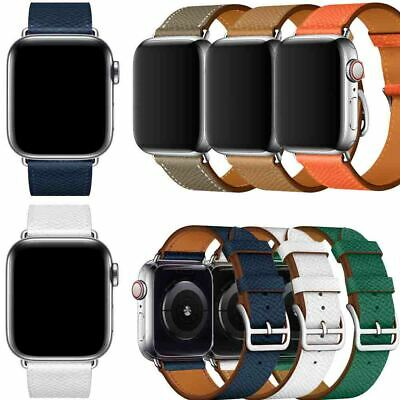 Genuine Leather Strap Band for Apple Watch 5 4 3 2 1 iWatch Wristband Bracelet