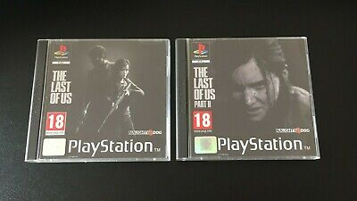 The Last Of Us / Part 2 PS4 Fan Custom PlayStation PS1 Style Covers - No Case