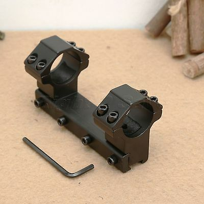 """High Profile Flat Top One Piece 25.4mm 1"""" Rings Scope Mount 11mm Dovetail Rail"""