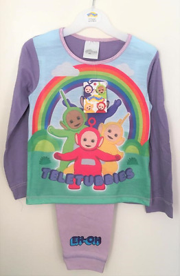 """New Official Teletubbies Girls Pyjama Set - """"Eh-Oh"""" - Exstore - Ages 2-4 Yrs"""