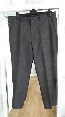 Mens Taylor & Wright Half Lined Black & Grey Tousers W38 L28 Excellent Condition