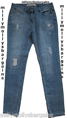 New Womens Blue Relaxed Skinny NEXT Jeans Size 12 Long LABEL FAULT