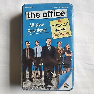 The Office Trivia Game - The Sequel by Pressman  Brand New Sealed Blue Tin
