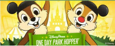 One Day Park Hopper Ticket/Pass - Disney World, Magic Kingdom, Epcot, etc.