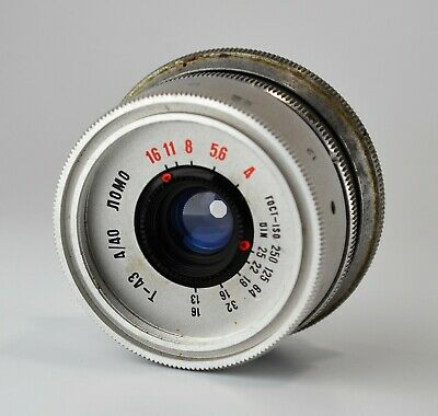 HAND MADE M39 mount RUSSIAN USSR SILVER LOMO T-43 f4/40 LENS from SMENA-8m (3)