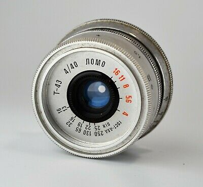 HAND MADE M39 mount RUSSIAN USSR SILVER LOMO T-43 f4/40 LENS from SMENA-8m (4)