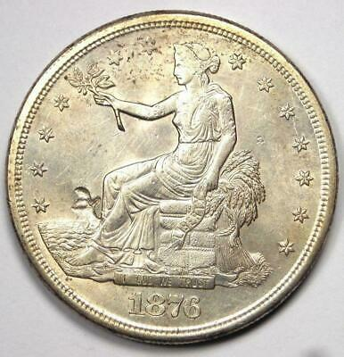 1876-S Trade Silver Dollar T$1 - Excellent Condition with Chop Marks - Rare Coin