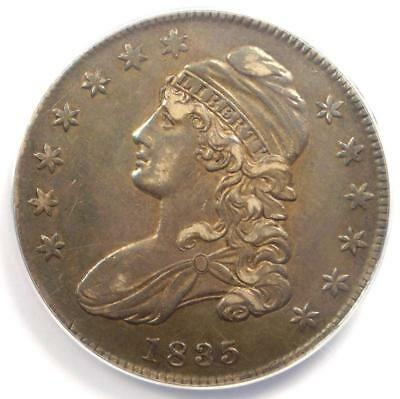 1835 Capped Bust Half Dollar 50C - ANACS XF45 (EF45) - Rare Certified Coin!