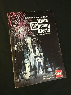 OLD & VERY RARE! WDW Walt Disney World Park Guide Maps   WDW Guide 1977