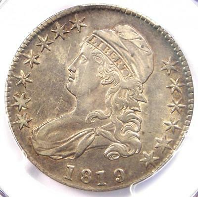 1819/8 Large 9 Capped Bust Half Dollar 50C O-104 - PCGS AU Details - Rare Coin!