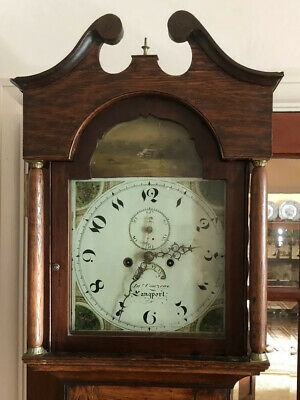 Antique Grandfather Clock 8 Day By Jr. Courzens Of Langport .