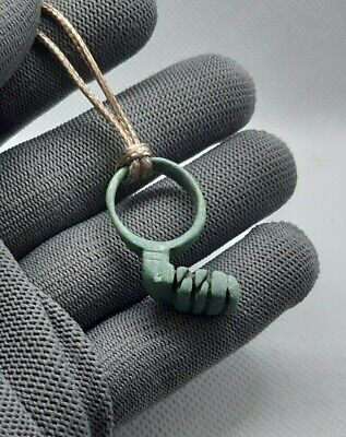 Perfect Ancient Pendant Amulet Suspension Roman Bronze Key Circa 200-400 AD #258