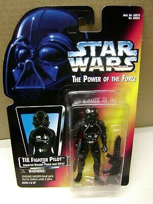 Star Wars, Potf Tie Fighter Pilot W/Imperial Blaster Pistol And Rifle Moc