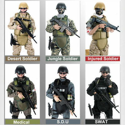 2 Set 1//6 Flexible SWAT/&Medic Soldier Model 12/'/' Action Figure Toys Body