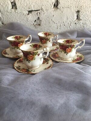 Wedgwood Royal Albert Collection Old Country Roses Coffee Cup & Saucer Set