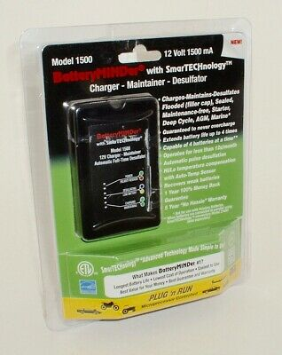 BATTERY Charger Maintainer Desulfator 1500 mA BATTERYMINDER 1500 - NEW