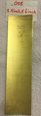 "NEW!!!!! SHOPAID BRSBrass Shim Stock .005 Thick x 6/"" Wide x 100/"" Long"