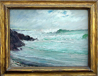 """20% OFF San Francisco Oil Painting MAREN FROELICH  Waves Carmel 06 10""""x14"""""""