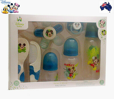 Disney Mickey Anticolic Baby Feeding Bottle & Soother Gift Set-Nursing BPA Free