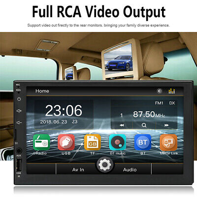 Stereo Car Radio 7 Bluetooth AUX/USB/FM 2 Din Head Unit MP5 Player Touch Screen