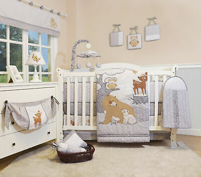 13PCS Enchanted Forest Woodland Baby Nursery Crib Bedding Sets  Holiday Special